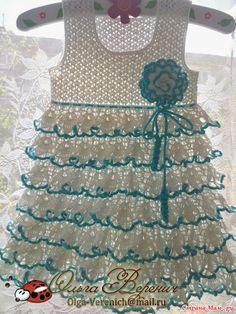 Croche pro Drink: Dresses in croche Crochet Toddler Dress, Girls Knitted Dress, Crochet Baby Clothes, Crochet For Boys, Toddler Girl Dresses, Little Girl Dresses, Boy Crochet Patterns, Crochet Baby Dress Pattern, Crochet Designs