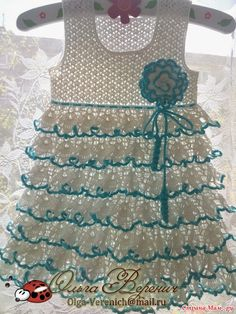 Croche pro Bebe: Vestidos em croche                                                                                                                                                                                 Mais