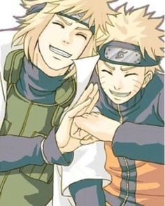 Minato and Naruto Uzumaki