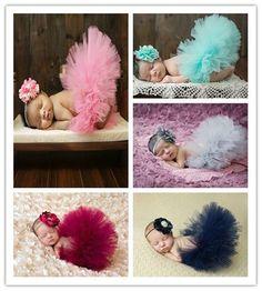 Newborn Headdress flower+Tutu Clothes Skirt Baby Girls Photo Prop Outfits hot! #Handmade