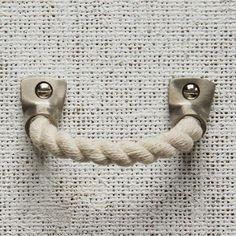 Rope + Metal Handle, Brushed Nickel Finish, Cotton Rope