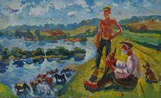Балыков Ю. Пастухи 50-80 к.м. 70е 0,06 by SocrealizmComUa on Etsy
