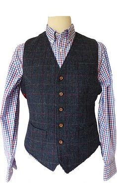 Harris Tweed Tolsta Harris Tweed Jacketand Waistcoat from the Harris Tweed shop Harris Tweed Waistcoat, Men's Waistcoat, Mens Fashion Suits, Mens Suits, Fashion Vest, Tweed Run, Stylish Mens Outfits, Men Casual, Casual Styles