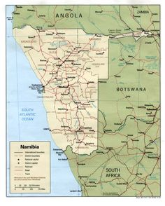 namibia map | Country Maps