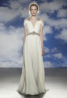 vestido de noiva jenny packham coleçao 2015 estilo roma antiga Billie #casarcomgosto
