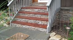 creative ideas curb appeal | Home Siding for Better Curb Appeal | Creative Faux Panels: Stone Siding Panels, Faux Stone Siding, Faux Stone Panels, Faux Panels, Remodeling Mobile Homes, Home Remodeling, Front Stairs, Deck Stairs, Garden Stairs