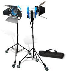 2unit 650W Fresnel Tungsten Spotlight Barndor Movie Lighting Movie Light $249.99 - equipment ideas (from Ian)