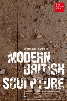 Modern British Sculpture exhibition poster.