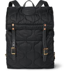 Yuketen - Leather-Trimmed Quilted Shell Backpack