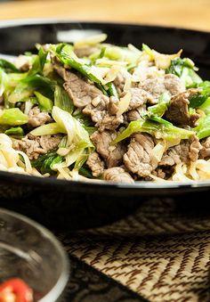 Gebratene Rindfleisch-Nudeln von Yasilicious