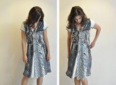 20 OFF SALE I n b a l Hand Dyed Textured White Silk by KarniKadan, $388.00