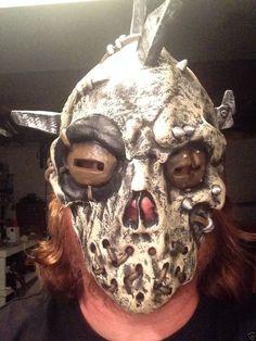 Hell Raiser Adult Latex Mask Horror Zombie Skeleton Halloween Demon Soul Hunter