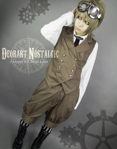 Steampunk military look Gothic Steampunk, Steampunk Fashion, Visual Kei, Dark Fashion, Autumn Fashion, Military Looks, Japanese Outfits, Blue Roses, Historical Clothing