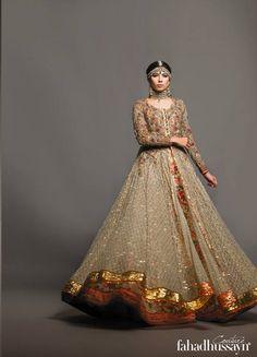 FAHAD HUSSAYN COUTURE Pakistani Bridal Couture, Indian Bridal Wear, Pakistani Wedding Dresses, Pakistani Dress Design, Indian Dresses, Indian Outfits, Gypsy Dresses, Girls Dresses, Ethnic Fashion