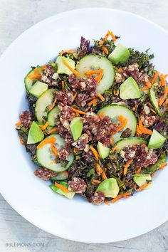 Summer Salad with Macadamia Nut-Cherry Crumble (v/gf)