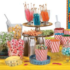 34 best circus candy buffet images circus birthday circus party rh pinterest com circus theme candy buffet ideas