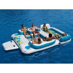 6 Person Inflatable Lake Raft Pool Float Ocean Floating Island. Doesn't this look like fun? Now, I just need the lake house to go with it!