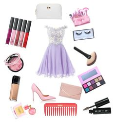 """""""It's party time"""" by xixi2010 ❤ liked on Polyvore featuring Gianvito Rossi, Sasha, Maybelline, Huda Beauty, Bobbi Brown Cosmetics, Victoria's Secret and Ted Baker"""