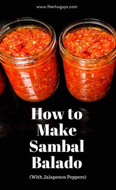 indonesian food Heres how to make Indonesian sambal balado with jalapeno peppers and 3 other ingredients - oil, garlic, and salt. via thertwguys Home Recipes, Indian Food Recipes, Asian Recipes, Healthy Recipes, Dinner Recipes, Chutneys, Food Trucks, Fun Cooking, Cooking Recipes