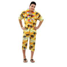 Ha llegado el momento de viajar y nos vamos directamente a Honululu! El espíritu veraniego aparecerá rápidamente conforme uno se viste con esta camisa y pantalón con estampado de palmeras. ¡Aloha! #disfraces #carnaval