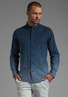 V.S.T.R Shades Shirt in Ensign Blue Dip-Dye - Sale