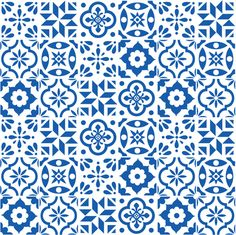 Spanish Tile Pattern - larger size fabric by elizajanecurtis on Spoonflower - custom fabric