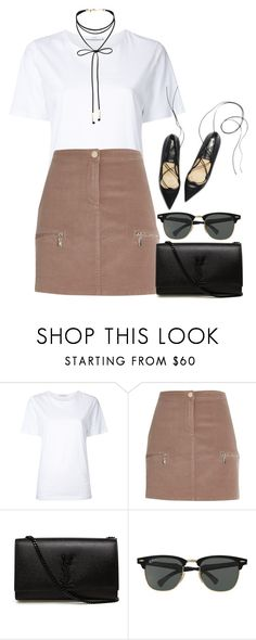 """""""Sans titre #1137"""" by nicolaisbae ❤ liked on Polyvore featuring Astraet, River Island, Yves Saint Laurent, Ray-Ban and Miss Selfridge"""