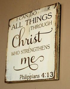 When you have a friend that is going through some hard times and need a word of encouragement, this will be the perfect message to give them. If you need a daily reminder that God strengthens you and whatever trials you are going through he will give you strength to face it. This is one of the most popular bible verses