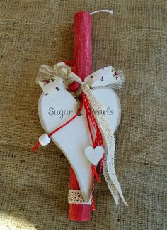 . Easter Ideas, Easter Crafts, Christmas Stockings, Christmas Ornaments, Palm Sunday, Candles, Holiday Decor, Table, Vintage