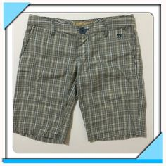 "Selling this ""Billabong Blue & Brown Plaid Bermuda Shorts Size 3"" in my Poshmark closet! My username is: style_shanty. #shopmycloset #poshmark #fashion #shopping #style #forsale #Billabong #Pants"