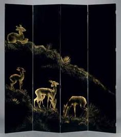 Jean Dunand, Les Biches Folding Screen, 1930s.