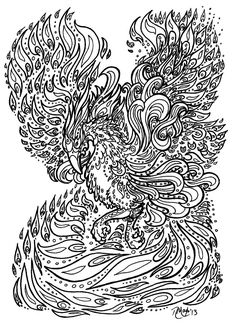 Phoenix coloring pages for adults printable stress relief free adult ideas mandala book relieving patterns Star Coloring Pages, Animal Coloring Pages, Printable Coloring Pages, Adult Coloring Pages, Coloring Books, Colouring, Pictures Of Phoenix, Cliparts Free, Mandala Book