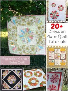 Find inspiration and the instructions for over 20 free dresden plate quilt patterns. Learn how to make the quilt block and sew them together in a beautiful layout.