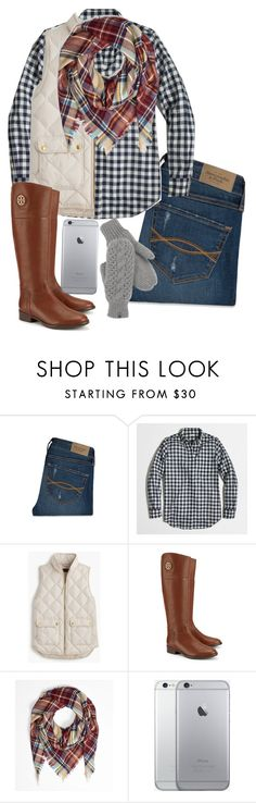 """Parade-#5setsofthanksgiving"" by a-little-prep-in-your-step ❤ liked on Polyvore featuring Abercrombie & Fitch, J.Crew, Tory Burch, The North Face and 5setsofthanksgiving"