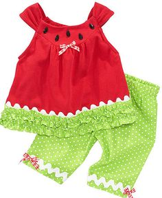 1f350cf8c Rare Editions Baby Set, Baby Girls Watermelon Tunic and Leggings & Reviews  - Kids - Macy's
