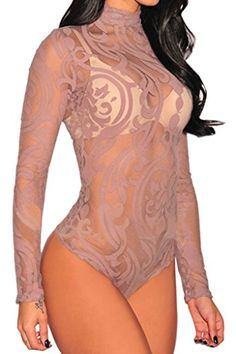 New Trending Bodysuits: FIYOTE Women Sexy Lace High Neck Floral Long Sleeves Bodysuit Clubwear Tops (Small, Pink). Special Offer: $12.99 amazon.com FIYOTE Women Sheer Mesh Print Jumpsuit Long Sleeves BodysuitBrand: FIYOTE100% Brand NewGarment care: hand wash recommended and hang dryPackage content: 1 x Piece Features *Love the feminine elegant design and fine quality*Pair with favorite jeans to get a...