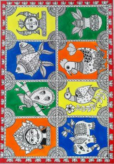 - madhubani Bihar Art  IMAGES, GIF, ANIMATED GIF, WALLPAPER, STICKER FOR WHATSAPP & FACEBOOK