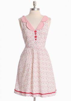 Ruche - geranium jubilee dress by Knitted Dove Modern Vintage Dress, Vintage Inspired Dresses, Vintage Dresses, Vintage Outfits, Vintage Fashion, Pretty Outfits, Pretty Dresses, Dresses For Work, Summer Dresses