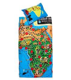 Afrikan tähti -pussilakanasetti, kuosillinen - 31,90€