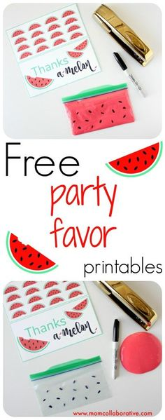 Free watermelon party favor printables!