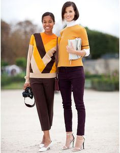 Street style photographers Tamu McPherson and Hanneli Mustaparta are picture perfect in fall's hottest color palette.