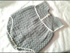 Pelele ,enterizo o jardinero  a crochet parte 1                                                                                                                                                                                 Más