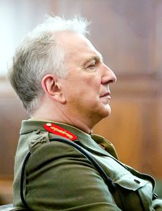 """2015 - Alan Rickman as Lieutenant General Frank Benson in """"Eye in the Sky."""" The movie was released to theaters on Friday, April 1, 2016."""