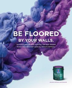 New ad work for Sherwin-Williams paints. on Behance