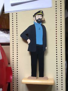 Great collectible for any Tintin fan Captain Haddock, Wooden Cutouts, Oeuvre D'art, Montreal, Fan, Stuff To Buy, Hand Fan, Fans