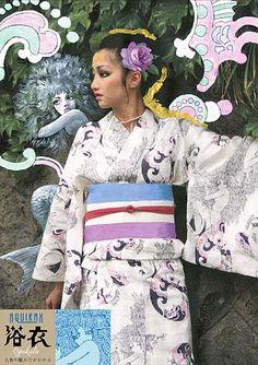 ☆宇野亜喜良/金子國義の浴衣 :: ☆東京のレトロな生活骨董の店スピカ