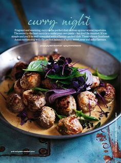 Meatball curry | Donna Hay (substitute with lamb or turkey)