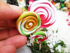 Fairy Lollipops Miniature Lollipop Garden by FairyGardenMiniature