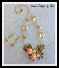 FUF 8/5 .. Butterfly Necklace Set .. Clever Designs by Jann .. https://www.etsy.com/shop/CleverDesignsbyJann