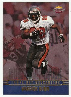 Warrick Dunn RC # RK 3 - 1997 Score Board Playbook By The Numbers Football NFL Rookie